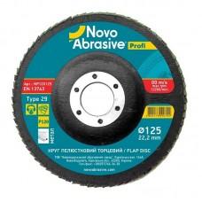 Круг лепестковый торцевой 125х22,2 Novoabrasive Profi P120