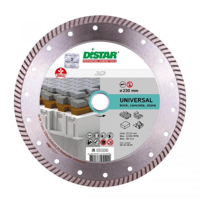 Диск алмазный  Distar Turbo Bestseller Universal 125х2,2х8х22