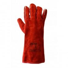 Перчатки сварщика Краги кожаные (усиленные, на подкладке)